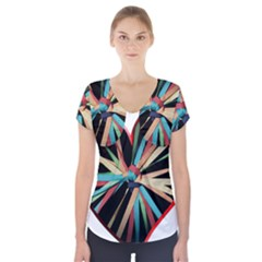 Above & Beyond Short Sleeve Front Detail Top