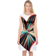 Above & Beyond Capsleeve Midi Dress