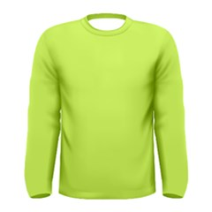 Neon Color   Light Brilliant Lime Green Men s Long Sleeve Tee