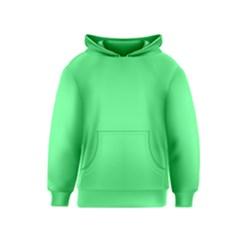 Neon Color - Light Brilliant Malachite Green Kids  Pullover Hoodie