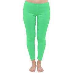 Neon Color   Light Brilliant Malachite Green Classic Winter Leggings