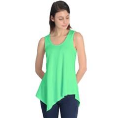 Neon Color - Light Brilliant Malachite Green Sleeveless Tunic