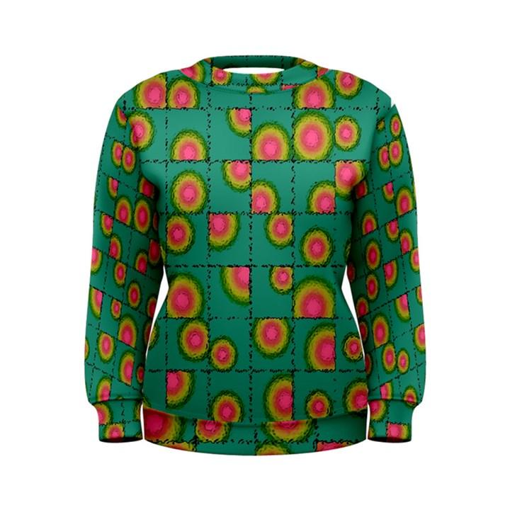 Tiled Circular Gradients Women s Sweatshirt
