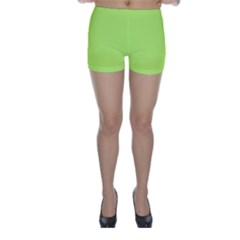 Neon Color - Light Brilliant Spring Bud Skinny Shorts