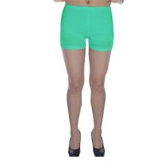 Neon Color - Light Brilliant Spring Green Skinny Shorts