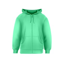 Neon Color - Light Brilliant Spring Green Kids  Zipper Hoodie