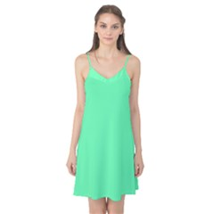 Neon Color   Light Brilliant Spring Green Camis Nightgown