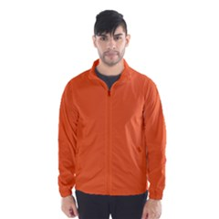 Neon Color - Light Brilliant Vermilion Wind Breaker (Men)
