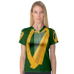 Flag of Leinster Women s V-Neck Sport Mesh Tee