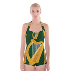 Flag of Leinster Boyleg Halter Swimsuit