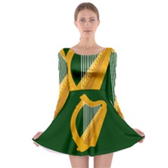 Flag of Leinster Long Sleeve Skater Dress