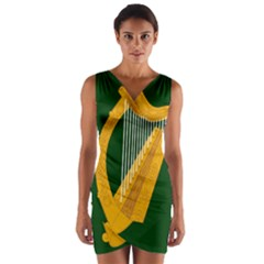 Flag of Leinster Wrap Front Bodycon Dress