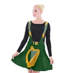 Flag Of Leinster Suspender Skater Skirt
