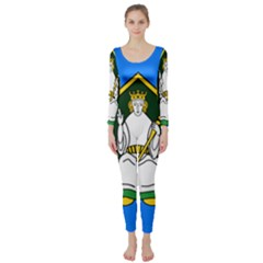 Flag Of Mide Long Sleeve Catsuit