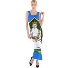 Flag Of Mide Fitted Maxi Dress