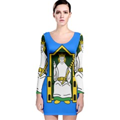 Flag of Mide Long Sleeve Velvet Bodycon Dress