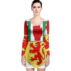 County Antrim Coat of Arms Long Sleeve Bodycon Dress