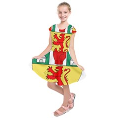 County Antrim Coat of Arms Kids  Short Sleeve Dress