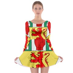 County Antrim Coat of Arms Long Sleeve Skater Dress