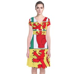 County Antrim Coat of Arms Short Sleeve Front Wrap Dress