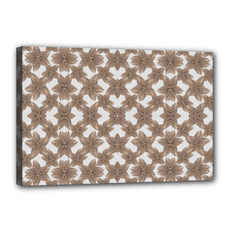 Stylized Leaves Floral Collage Canvas 18  x 12