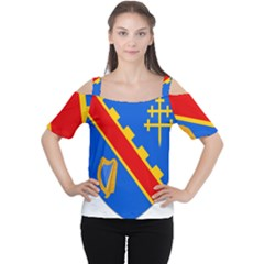 County Armagh Coat of Arms Women s Cutout Shoulder Tee