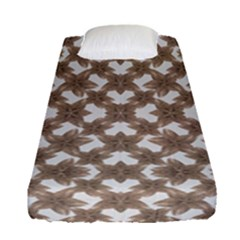 Stylized Leaves Floral Collage Fitted Sheet (Single Size)