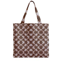 Stylized Leaves Floral Collage Zipper Grocery Tote Bag