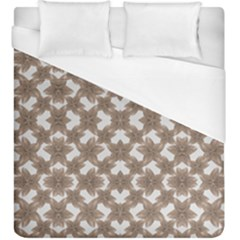 Stylized Leaves Floral Collage Duvet Cover (King Size)