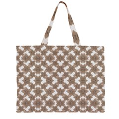 Stylized Leaves Floral Collage Large Tote Bag