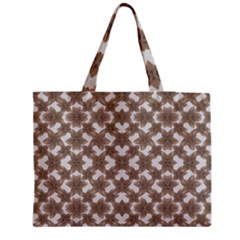 Stylized Leaves Floral Collage Medium Tote Bag