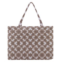 Stylized Leaves Floral Collage Medium Zipper Tote Bag