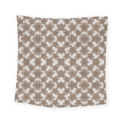 Stylized Leaves Floral Collage Square Tapestry (Small)