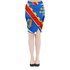 County Armagh Coat of Arms Midi Wrap Pencil Skirt