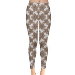 Stylized Leaves Floral Collage Leggings