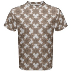 Stylized Leaves Floral Collage Men s Cotton Tee