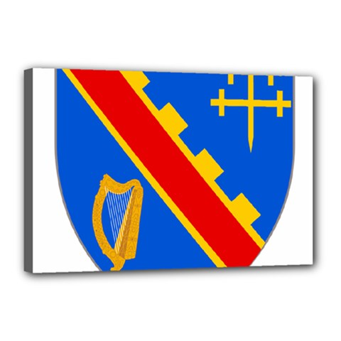 County Armagh Coat of Arms Canvas 18  x 12
