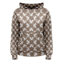 Stylized Leaves Floral Collage Women s Pullover Hoodie