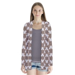 Stylized Leaves Floral Collage Cardigans