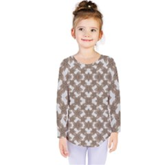 Stylized Leaves Floral Collage Kids  Long Sleeve Tee