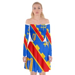 County Armagh Coat Of Arms Off Shoulder Skater Dress