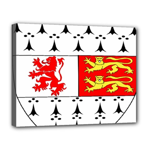County Carlow Coat Of Arms Canvas 14  X 11