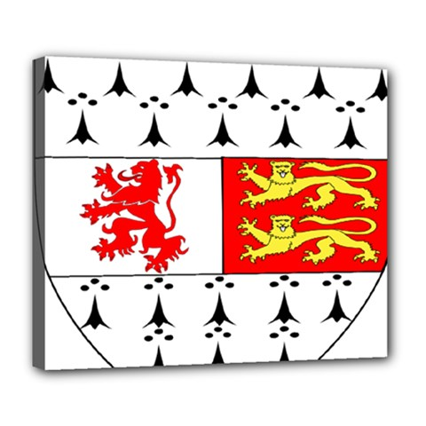 County Carlow Coat of Arms Deluxe Canvas 24  x 20