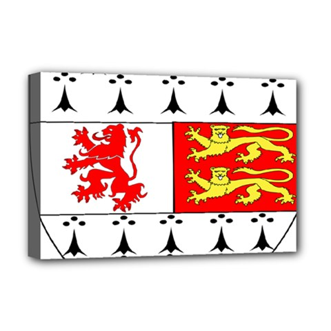 County Carlow Coat of Arms Deluxe Canvas 18  x 12