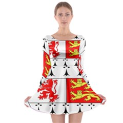 County Carlow Coat of Arms Long Sleeve Skater Dress