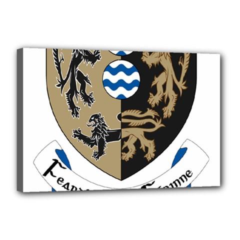 Cavan County Council Crest Canvas 18  x 12