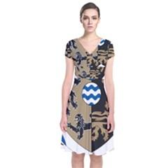 Cavan County Council Crest Short Sleeve Front Wrap Dress