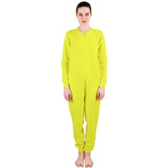 Neon Color - Light Brilliant Yellow OnePiece Jumpsuit (Ladies)