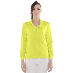 Neon Color - Light Brilliant Yellow Wind Breaker (Women)