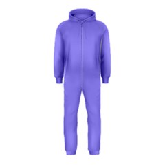 Neon Color - Light Persian Blue Hooded Jumpsuit (Kids)